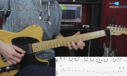 Blues Lick in E – Guitar Lesson