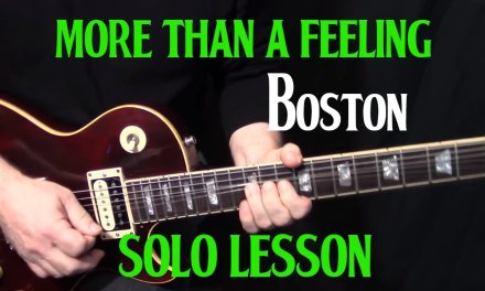 "how to play ""More Than a Feeling"" on guitar by Boston – guitar solo and fills lesson"