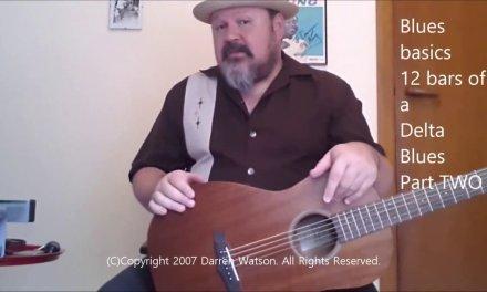 Darren Watson | FULL FREE BLUES GUITAR LESSON | Delta Blues Fingerstyle Lesson PART TWO