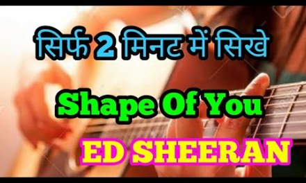 Shape Of You Ed Sheeran  Intro Tab Guitar lesson in Hindi 2 String Tabs Impressive Tabs  KavGuitar