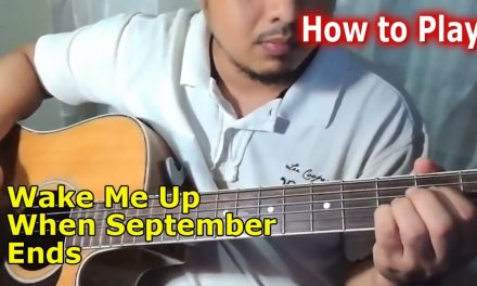 Wake Me Up When September Ends – Greenday – easy chords Guitar tutorial