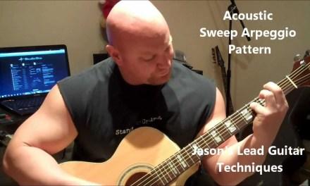 Acoustic Sweep Arpeggio Pattern   Jason's Lead Guitar Techniques