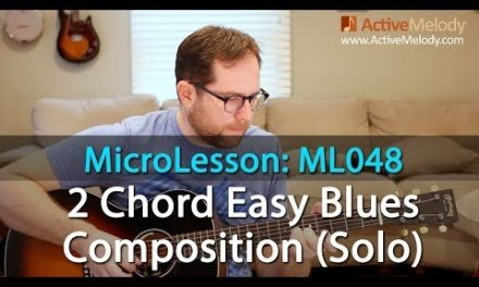 Learn an easy 2 Chord Blues Composition in this Blues Guitar Lesson – ML048