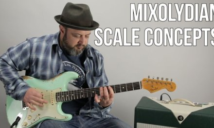 Blues Rock Lead Guitar Lesson Using The Mixolydian Mode (Scale)