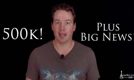 500,000 Subs and Big News!
