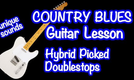 Country Blues Lead Guitar lesson hybrid picking banjo rolls style of Ray Flacke