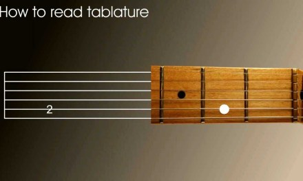Left Handed guitar lesson – How to read tablature (tab) in a minute