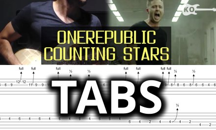 OneRepublic – Counting Stars – Electric Guitar Cover by Kfir Ochaion – TABS