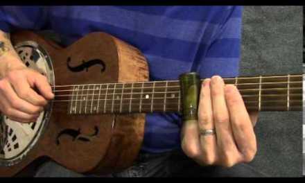 Slide guitar blues solo in open G tuning – SL001