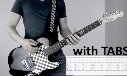 Three Days Grace – Fallen Angel Guitar Cover w/Tabs on screen