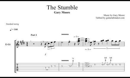 Gary Moore – The Stumble TAB – blues solo tab – PDF – Guitar Pro
