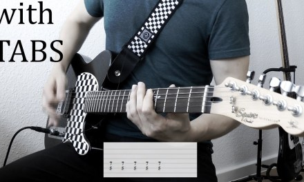 Skillet – Not Gonna Die Guitar Cover w/Tabs on screen