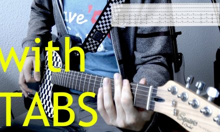 Three Days Grace – Just like you Guitar Cover w/Tabs on screen