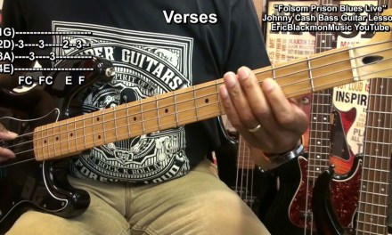 How To Play FOLSOM PRISON BLUES On Bass Guitar Johnny Cash EricBlackmonGuitar