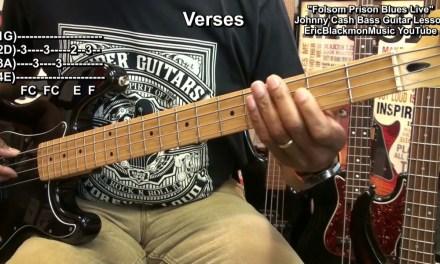 FOLSOM PRISON BLUES Bass Guitar Lesson Johnny Cash EricBlackmonMusic BASS