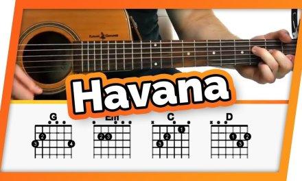 Havana – Camila Cabello – Guitar Tutorial (Lesson) For Beginners // Easy Chords