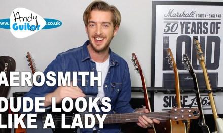 Aerosmith – Dude Looks Like A Lady Guitar lesson tutorial ALL ABILITIES!