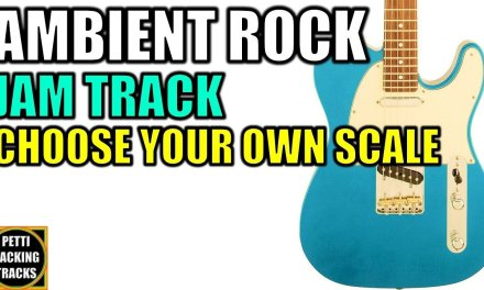Ambient Rock Guitar Backing Track Jam Choose Your Own Scale in C