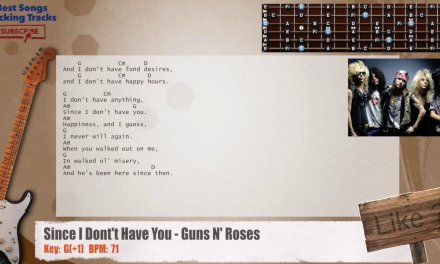 Since I Dont't Have You – Guns N' Roses Guitar Backing Track with chords and lyrics