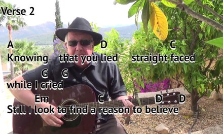 Reason To Believe – Tim Hardin/Rod Stewart – easy chord guitar lesson on-screen chords and lyrics