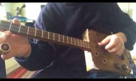 Cigarbox guitar blues slide lesson  dgd Robert Johnson