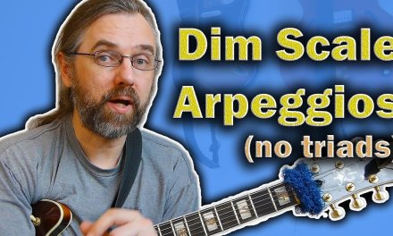 3 Arpeggios from the Diminished Scale (No Triads)