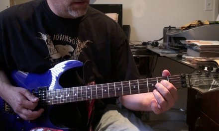 How to play black and blue by Van Halen guitar lesson