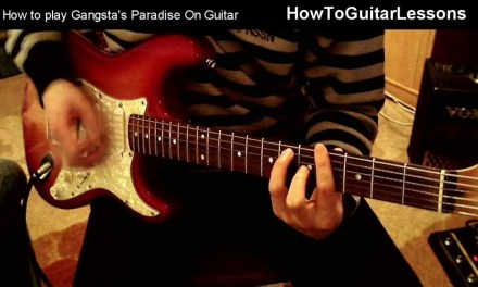 How To Play – Gangsta's Paradise : Coolio – On Guitar + Tabs – Beginner Guitar Lesson & Tutorial