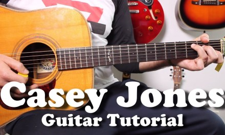 Grateful Dead – Casey Jones – Acoustic Guitar Tutorial with riff, tabs, lyrics, play-along