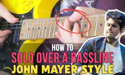 How To SOLO Over A Bassline: John Mayer Blues Style Lesson (RE-UPLOAD)
