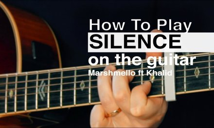 Silence – Marshmello (ft Khalid) Guitar Tutorial // How To Play Chords // Acoustic Guitar Beginners