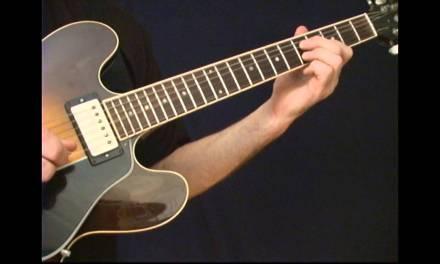 Classic Blues Guitar Rhythm Slides (2nd string set) slow blues lesson