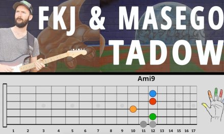 """""""TADOW"""" by FKJ & MASEGO Guitar Lesson – Main Loop, Sax Lines, Improv (How to Play/Tutorial)"""