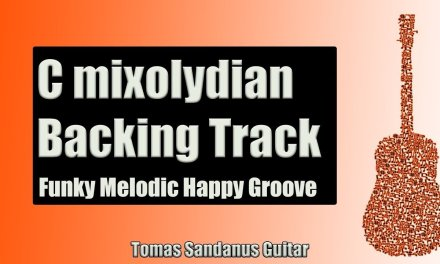 C Mixolydian Backing Track | Funk Melodic Happy Groove Guitar Backtrack | Chords | Scale | BPM