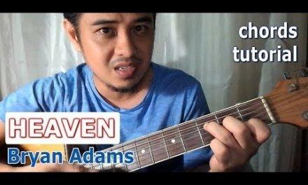 Heaven Chords (Bryan Adams) Guitar Tutorial for beginners by Pareng Don