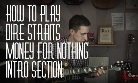 How to play Money For Nothing by Dire Straits – Intro Section – Guitar Lesson Tutorial with Tabs