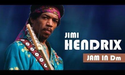 Crazy Jimi Hendrix Style Backing Track Jam in Dm