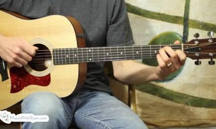 #10 – Alternate Bass Strumming – Easy Beginning Guitar Lessons – Folsom Prison Blues