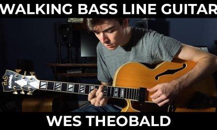Walking Bass Blues Guitar Lesson