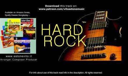 HARD ROCK Guitar Instrumental Backing Track – B minor – Free Jam track to improvise