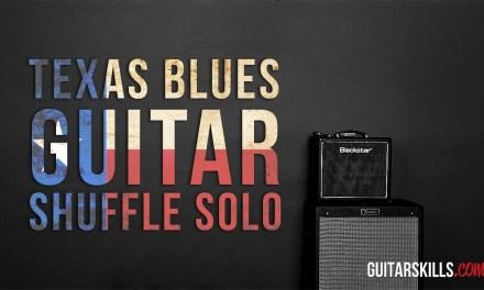 Texas Blues Guitar Shuffle Solo – Cool Chord Tone Trick