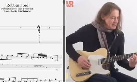 Robben Ford – 'Playing the altered scale in blues' lick – Best lick (animated tab – Fast & slow)