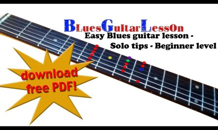 Easy Blues guitar Lesson -with schemes-