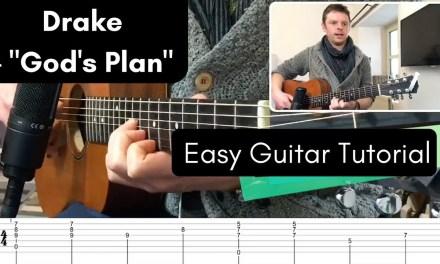God's Plan – Drake // Guitar Tutorial (Two Chords)