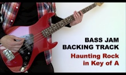 Guitar & Bass Jam Backing Track – Haunting Rock in A (84 bpm)