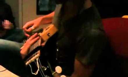 "Zak overdubbing slide guitar on ""Take My Hand"""
