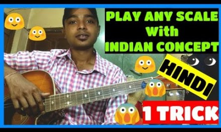 How to play Major Scale on #Guitar with #Indian Concept(#hindi), Play Major #Scale with one Trick.