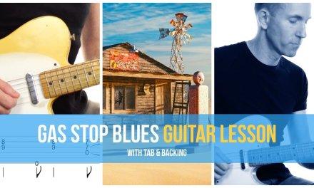 Gas Stop Blues – Rhythm Guitar Lesson [Free tab + backing track]