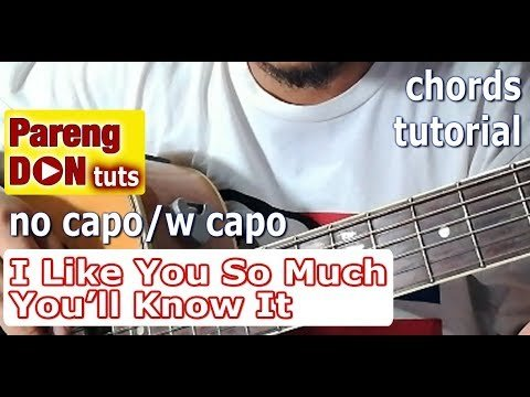 Guitar Tutorial: Chords of I Like You So Much, You\'ll Know It (A ...