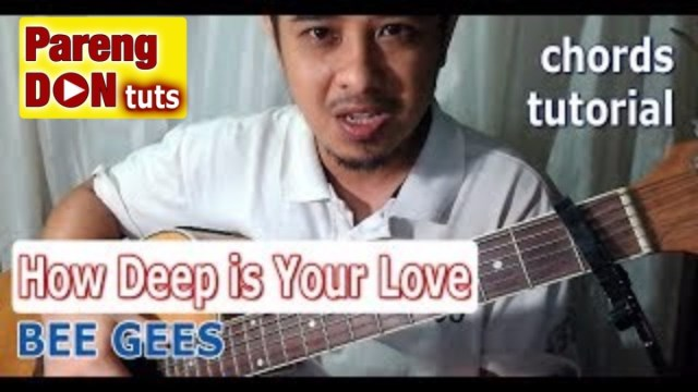 How Deep Is Your Love Chords Guitar Tutorial Bee Gees Easy For